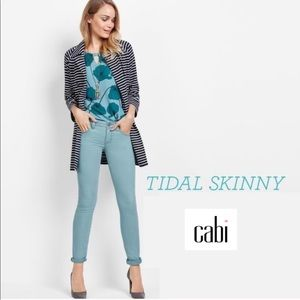 Cabi Tidal Curvy Skinny Aqua Jeans Pants 10